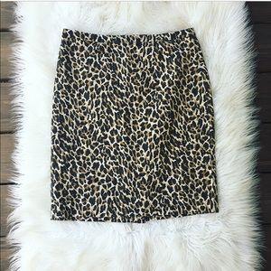 J. Crew Cheetah Print Pencil Skirt